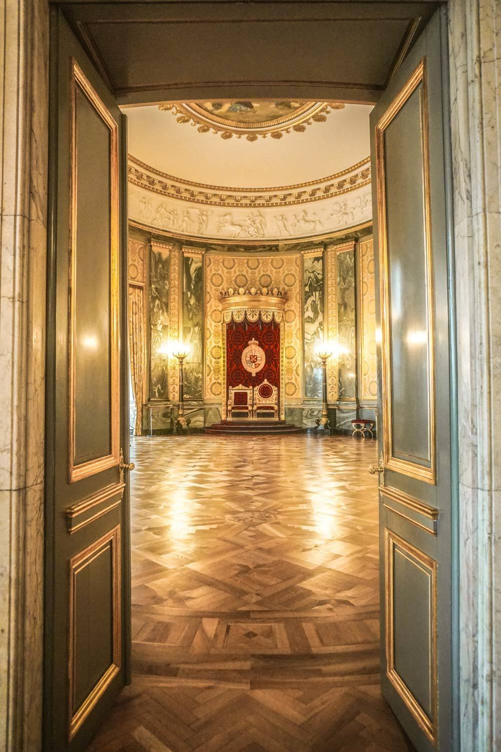 Inside Christiansborg Palace