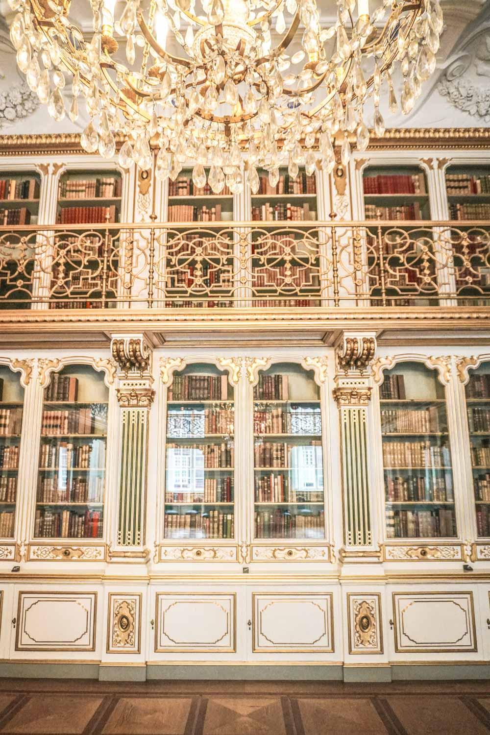 The Library at Christiansborg Castle Denmark