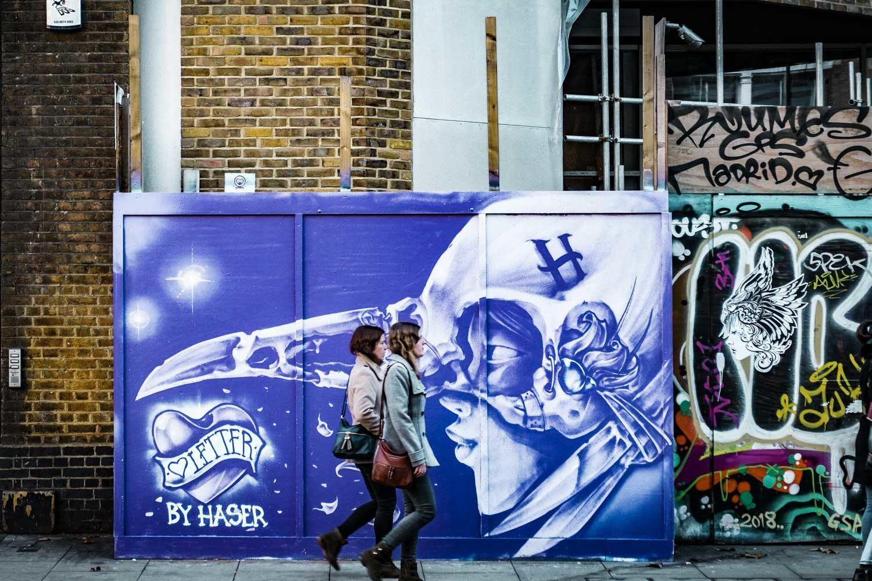 Street Art Hoarding - Great Eastern Street, Shoreditch