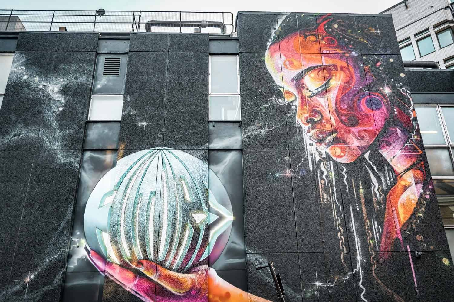 Mr Cenz + Lovepusher Street Art in London