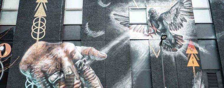 Connectivity street art, King John Court