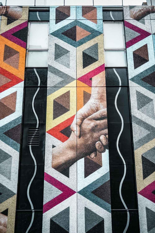 Connectivity street art, King John Court London