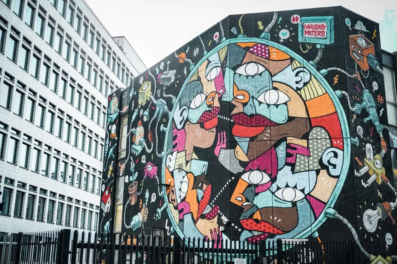 Large street art in London