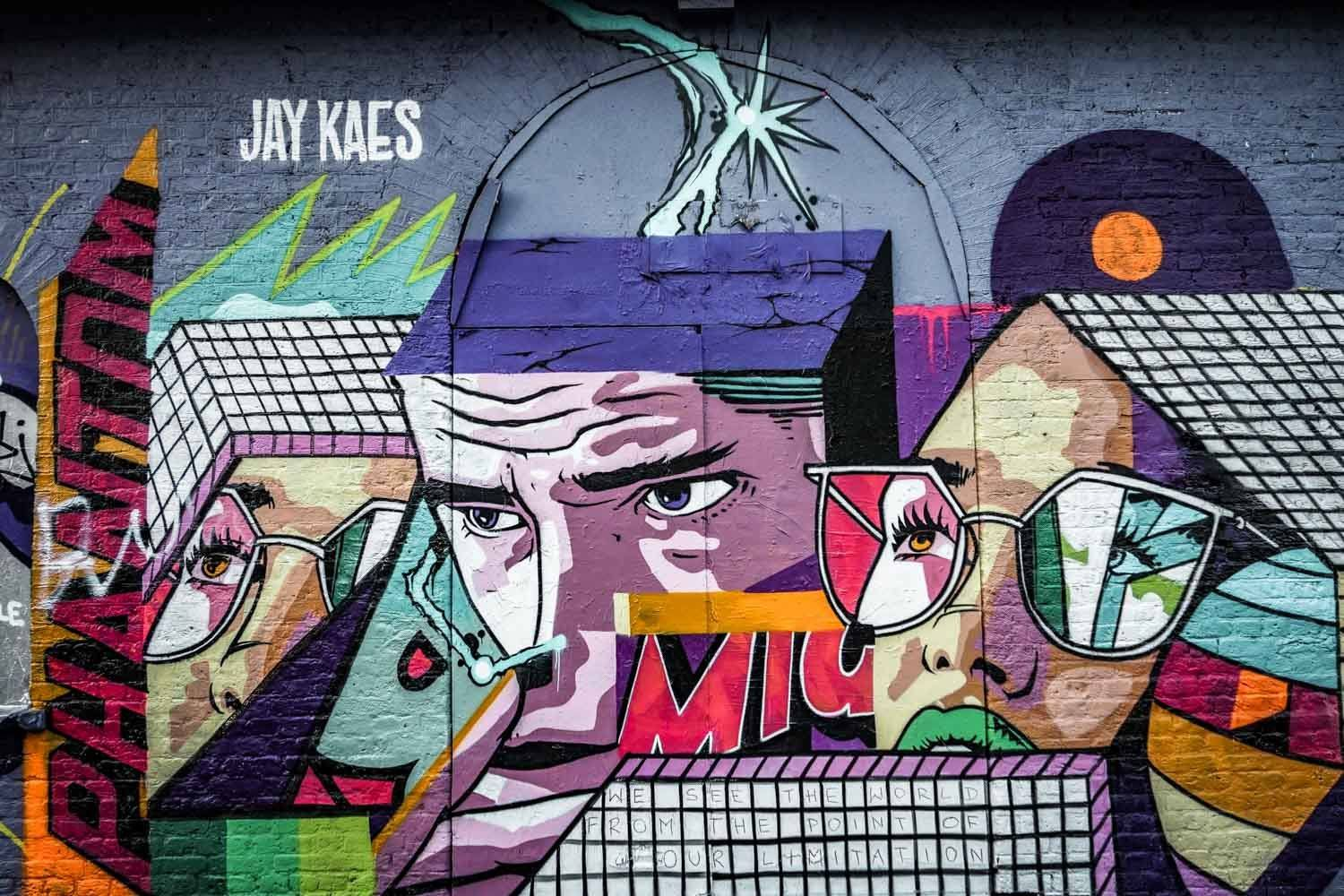 Graffiti in Pedley Street London - Jae Kaes