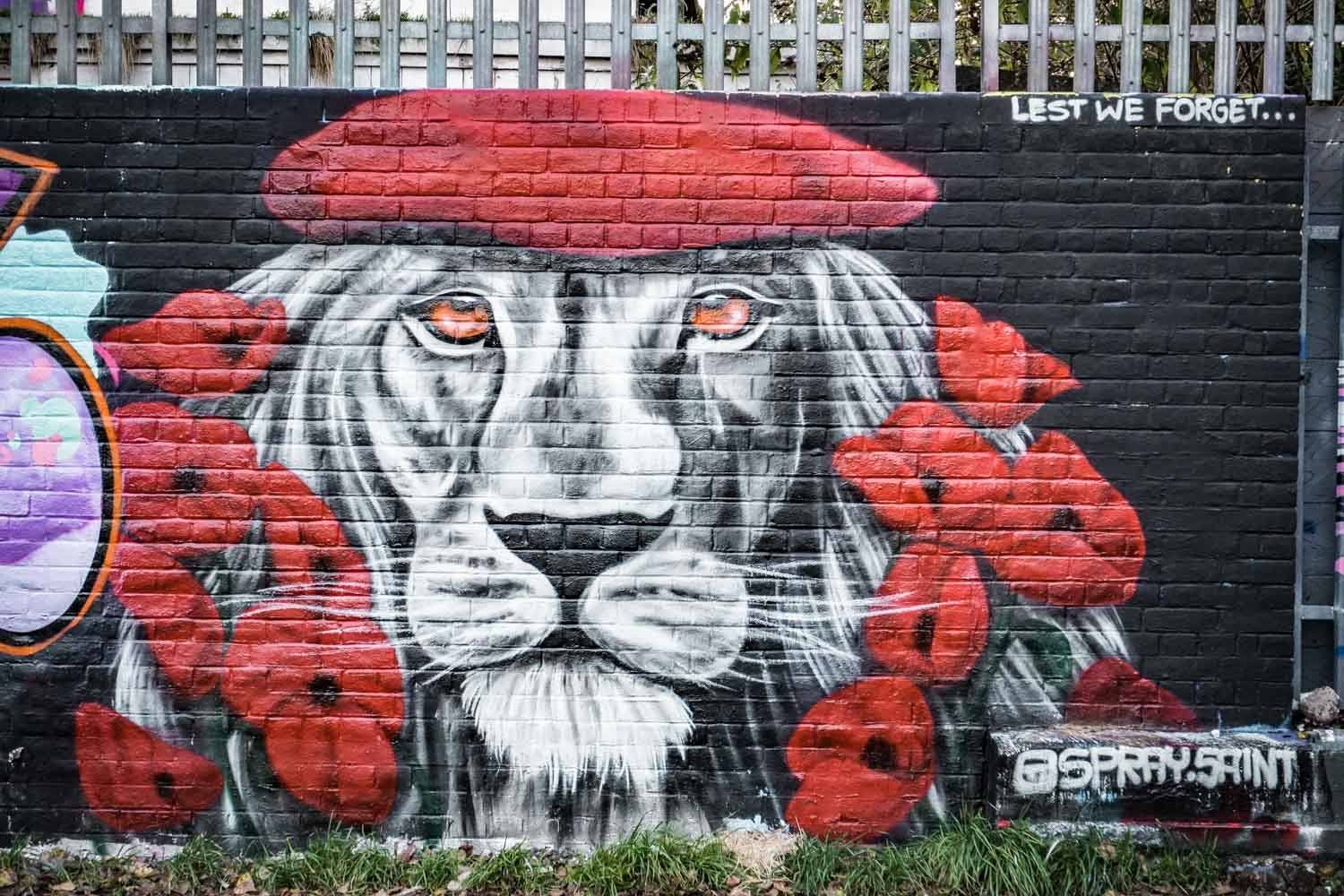 Lest we forget Street art London