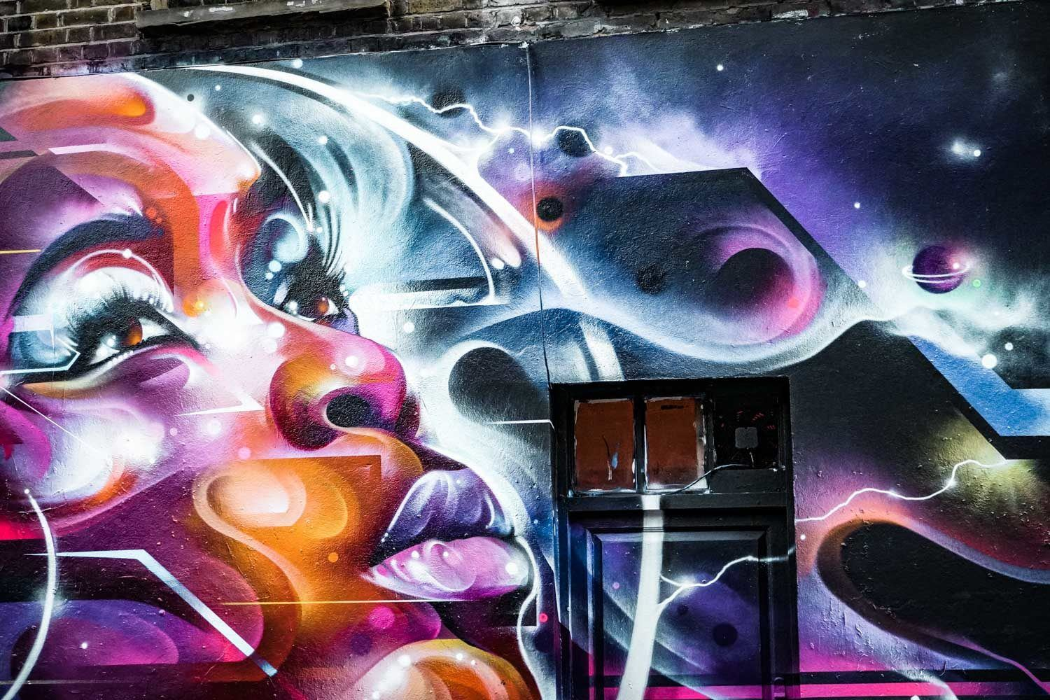 Mr Cenz Street art on Hanbury Street Shoreditch
