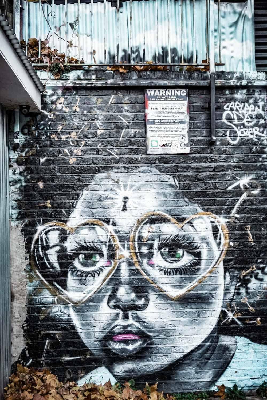 Shoreditch Graffiti Walls at Seven Stars Yard