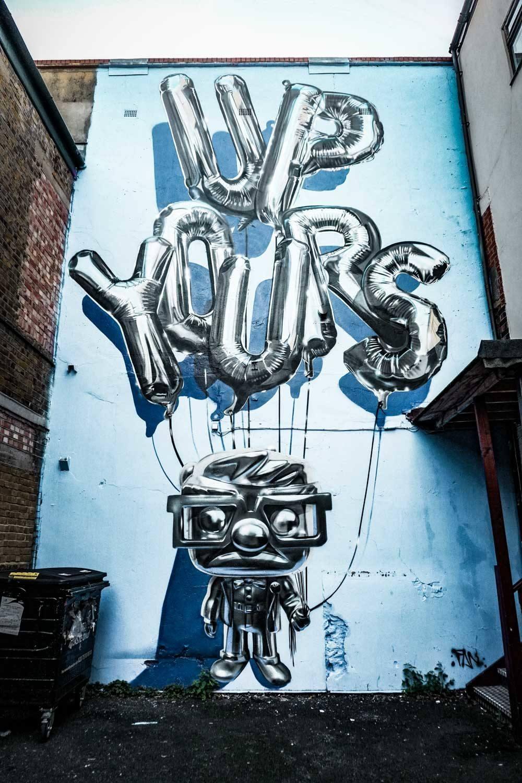 Fanakapan 3D Street Art at 5th Base Gallery London