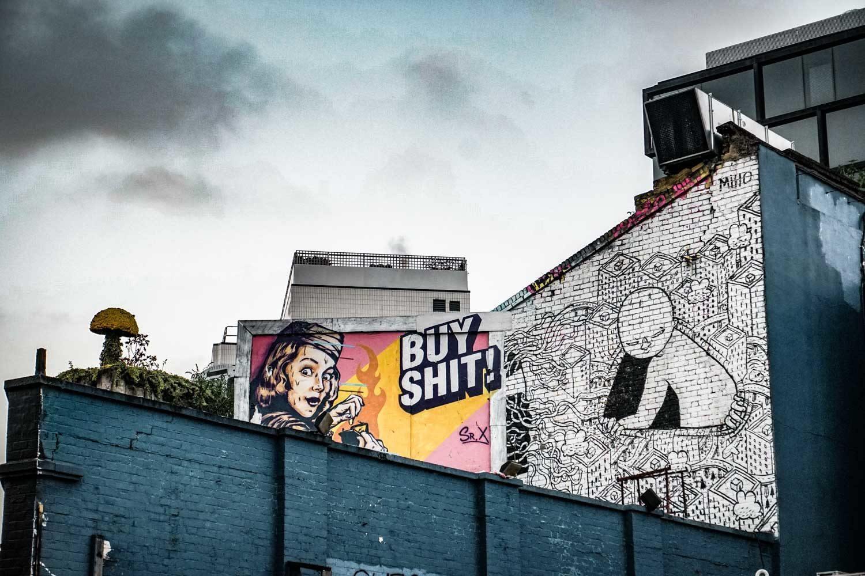 Buy sh*t Art on Great Eastern Street, Shoreditch