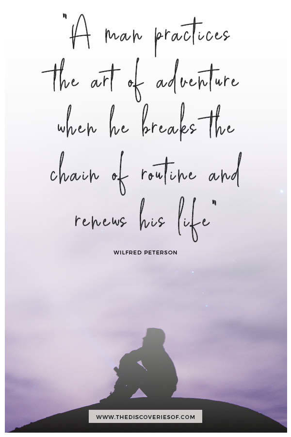 A Man Practices the Art of Adventure