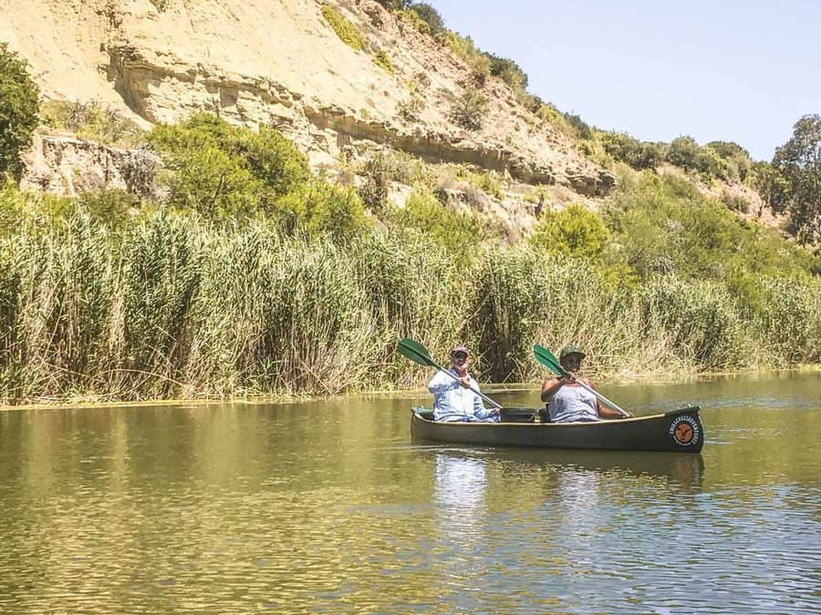 Canoeing on the Sundays River, South Africa