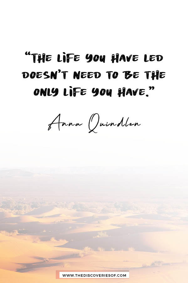 The life you have led - inspirational travel quote