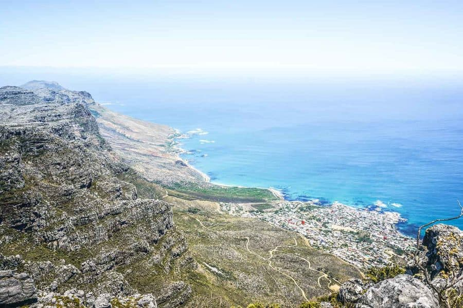 Views from the top of Table Mountain, Cape Town