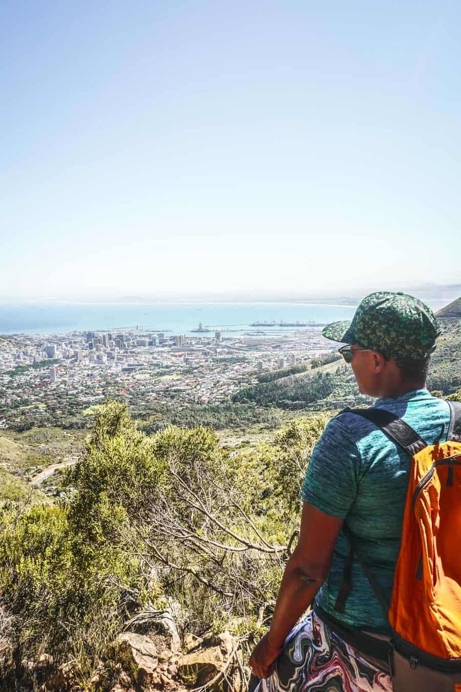 Hiking to the top of Table Mountain up Plattenklip Gorge