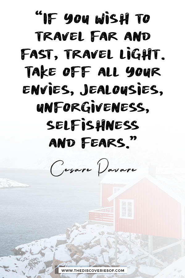 If you wish to travel far and fast