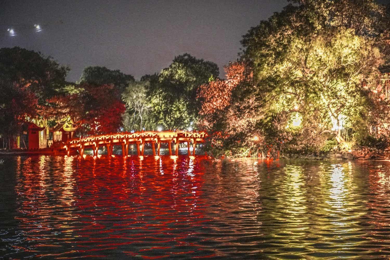 Hoan Kiem Lake Hanoi at Night