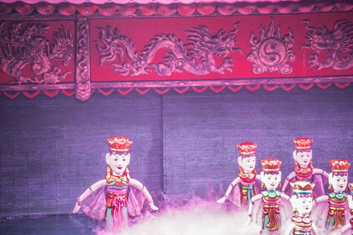 Water Puppet Show at Thang Long Theatre Hanoi