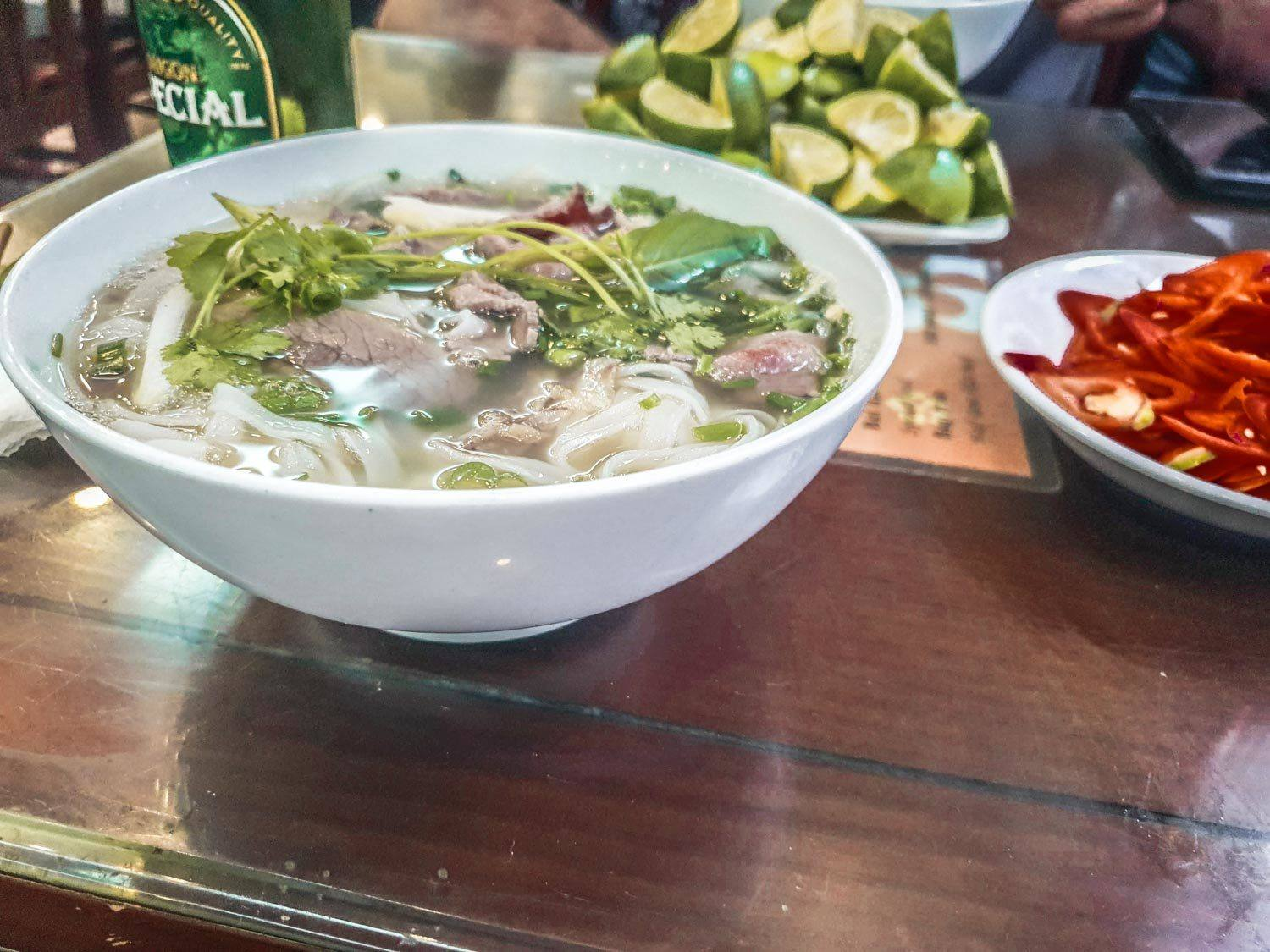 The best pho in Hanoi at Pho 10