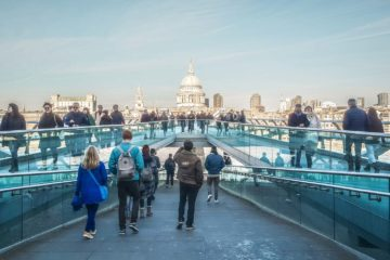 Millenium Bridge to St Paul's London