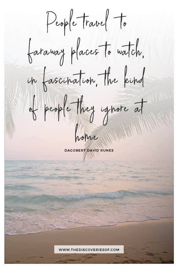 People travel to faraway places - Dagobert Runes
