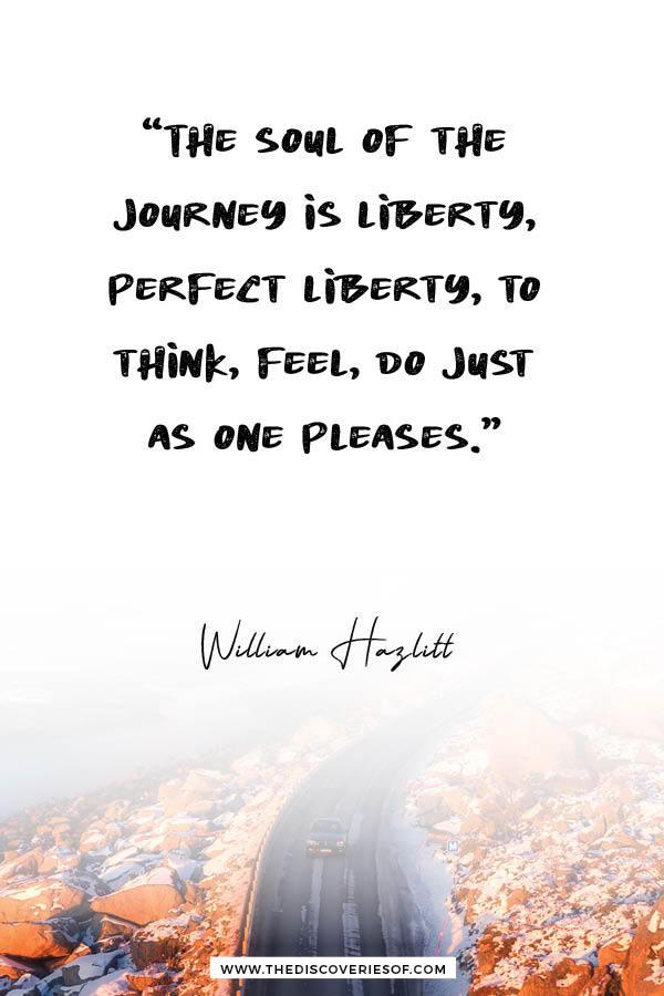Soul of the Journey - William Hazlitt