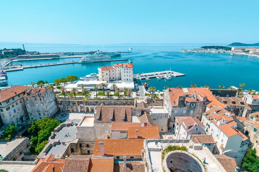 View of Split, Croatia from above