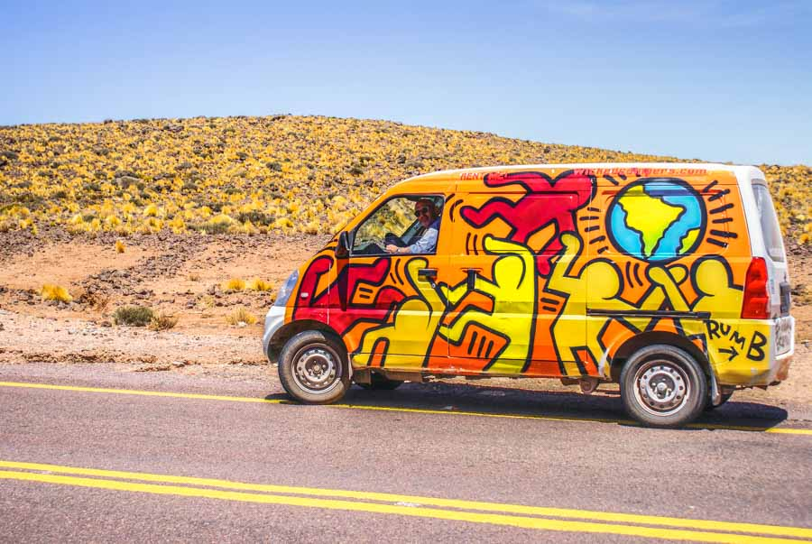 Campervan from Wicked Campers Chile
