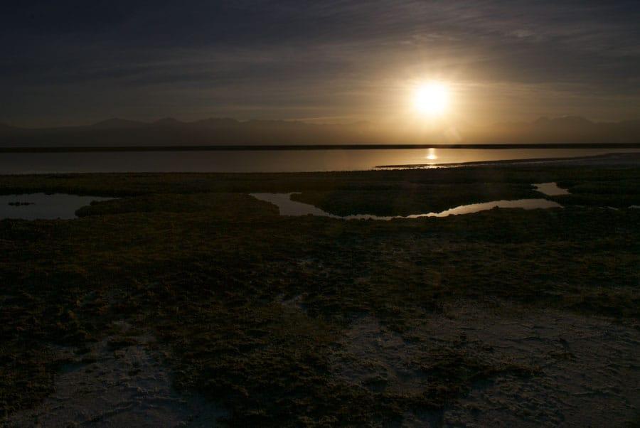 Sunrise over Laguna Tebinquince Atacama Desert