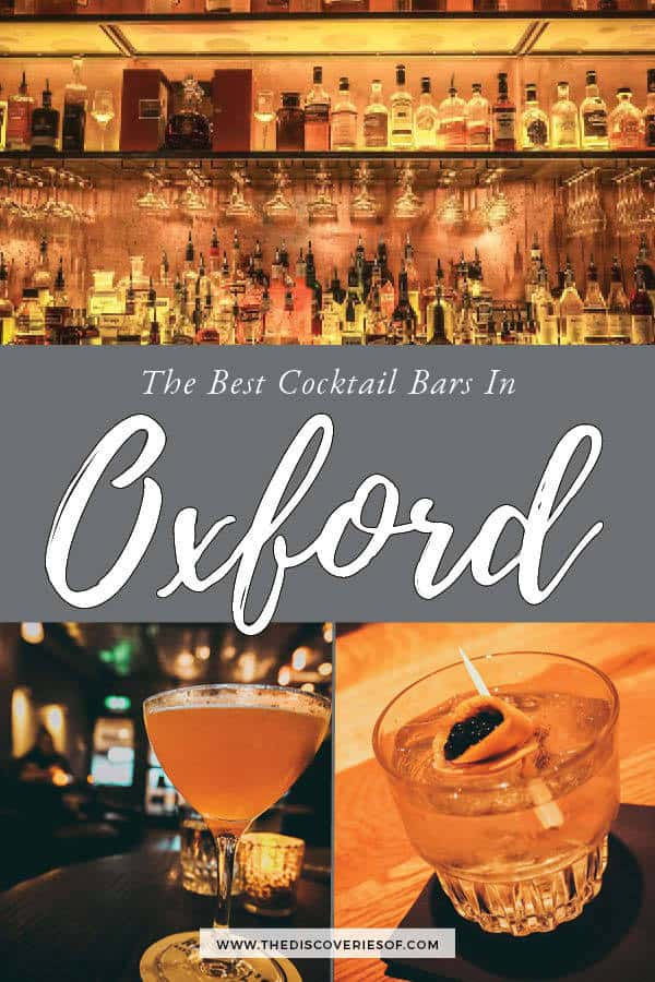 The Best Cocktail Bars in Oxford