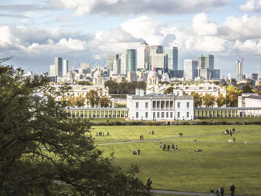Greenwich views from Greenwich Park