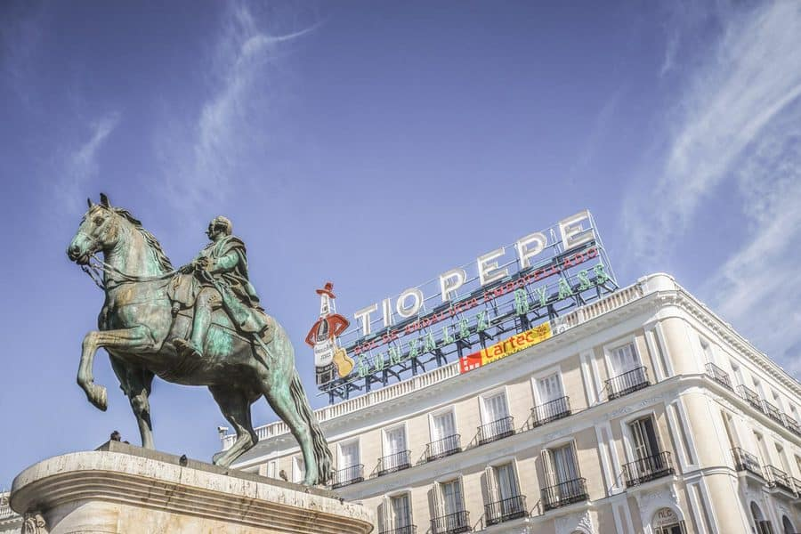 The Puerta del Sol in Madrid - The Centre of Spain
