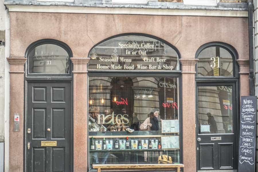 Notes Coffee Shop Covent Garden
