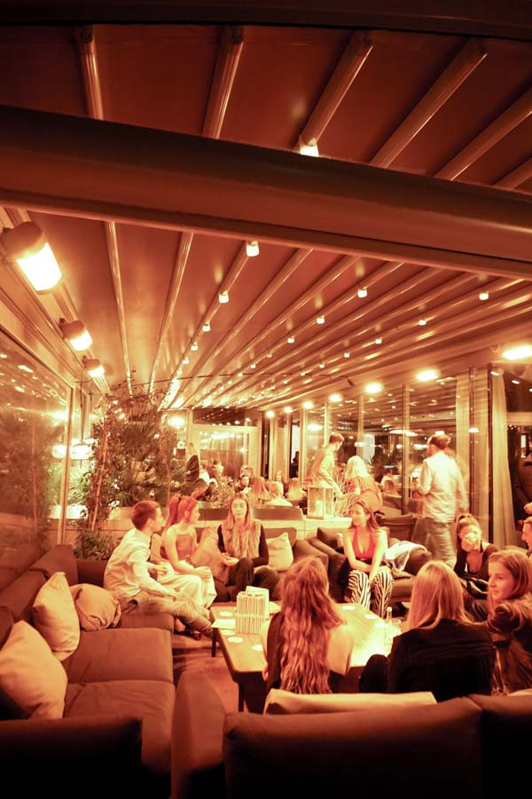 Covered terrace at Radio Rooftop London