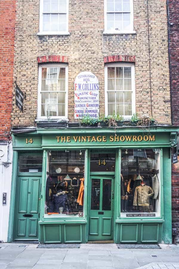 The Vintage Showroom, Covent Garden
