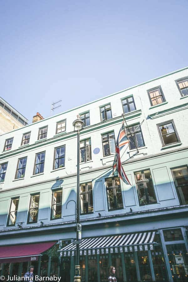Karl Marx Lived Above What's Now Quo Vadis in Soho