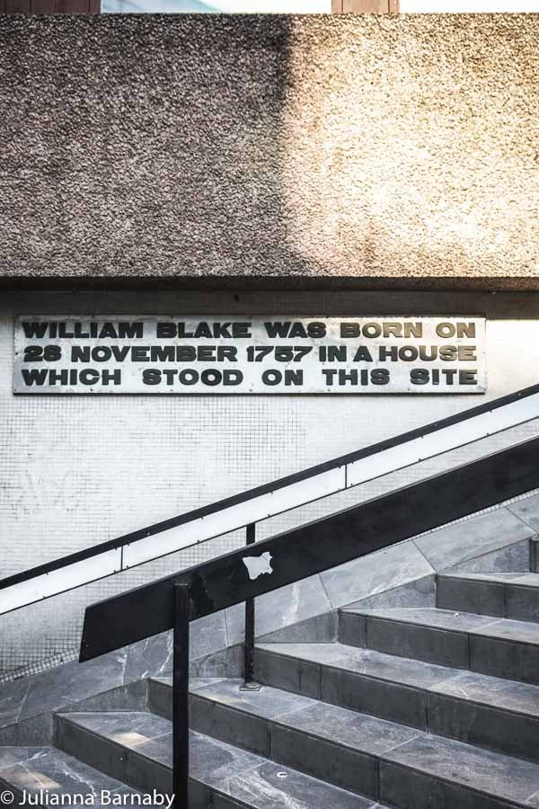 William Blake in Soho