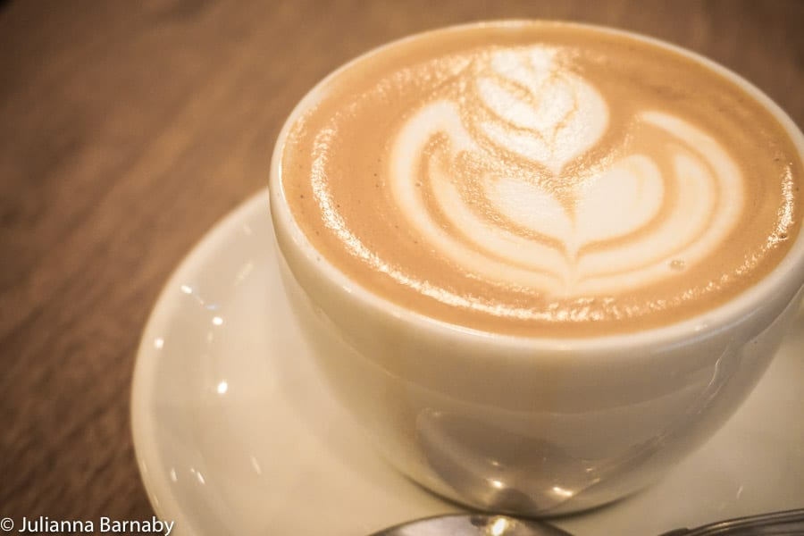 Coffee at Flat White, Soho
