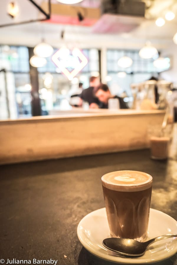 Cortado at The Department of Coffee and Social Affairs, Soho