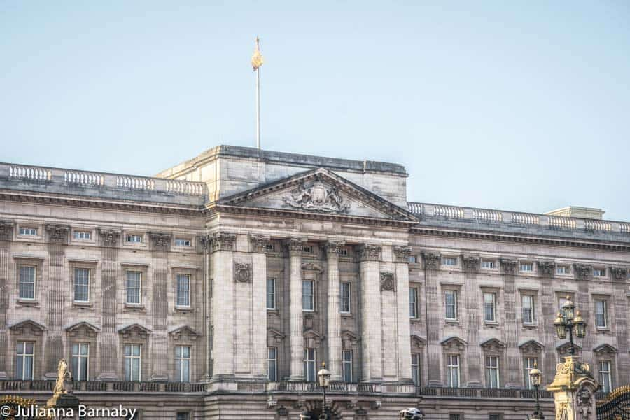 The Royal Standard Flying Above Buckingham Palace