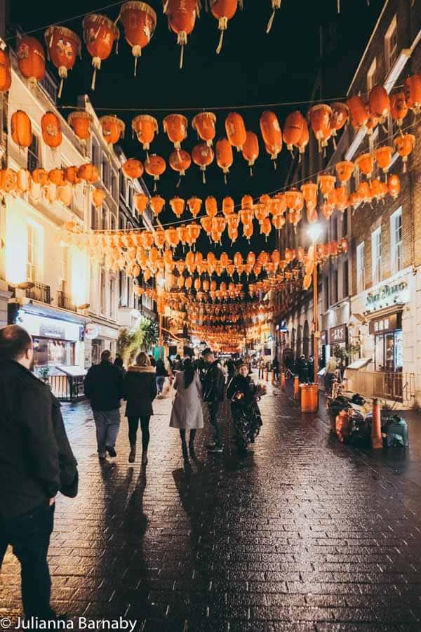 Chinatown during the night