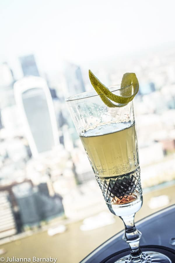 Cocktails with a view at Aqua Shard