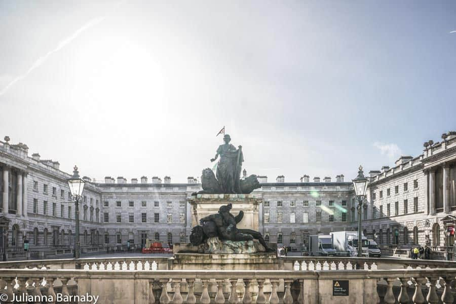 Statues and forecourt at Somerset House