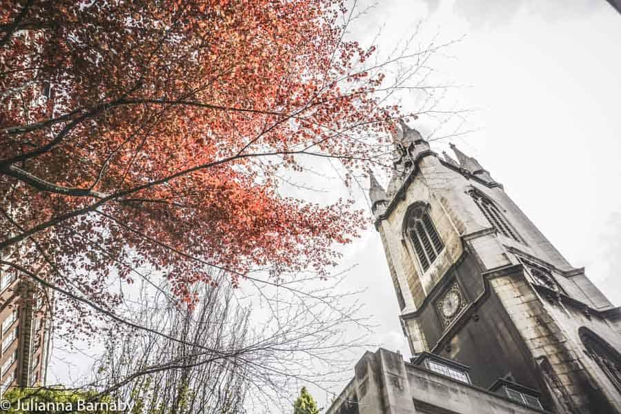 Christopher Wren's tower at St Dunstan