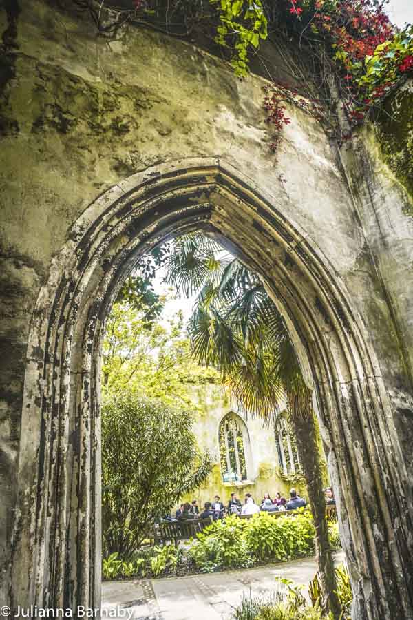 The abandoned church has been turned into a London park
