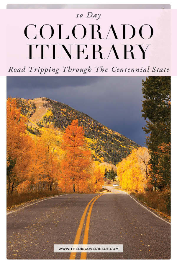 Colorado Itinerary