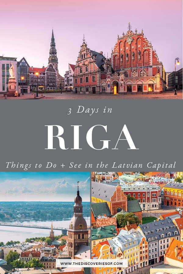 Riga 3 day itinerary