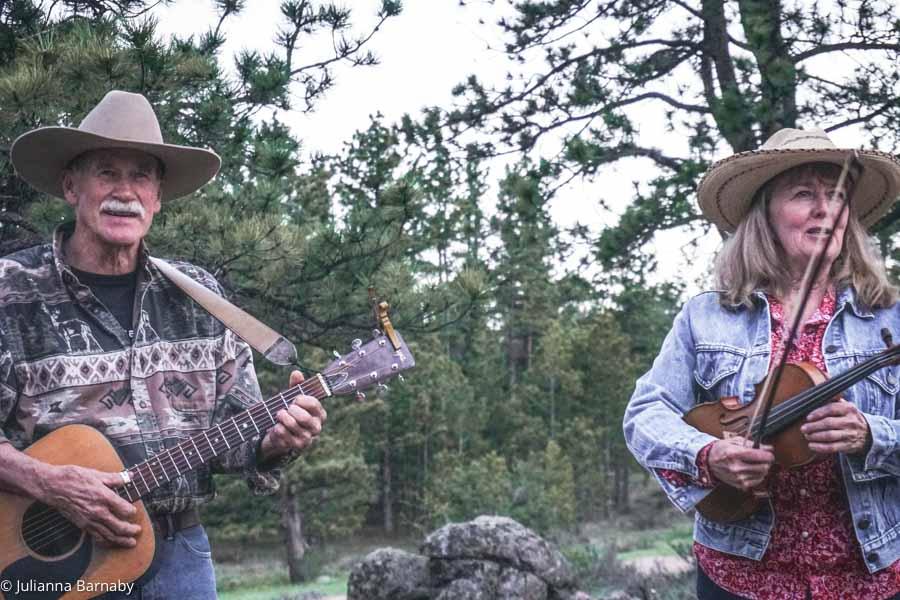 Singing Cowboy songs at the Campfire