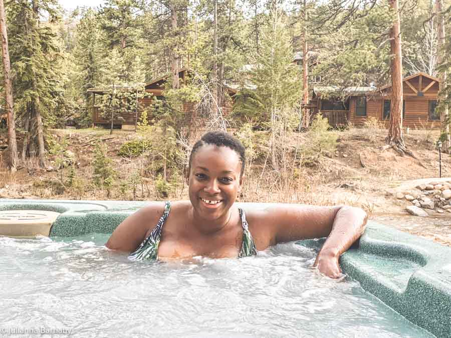 Hanging at the Hot Tub in Evergreens