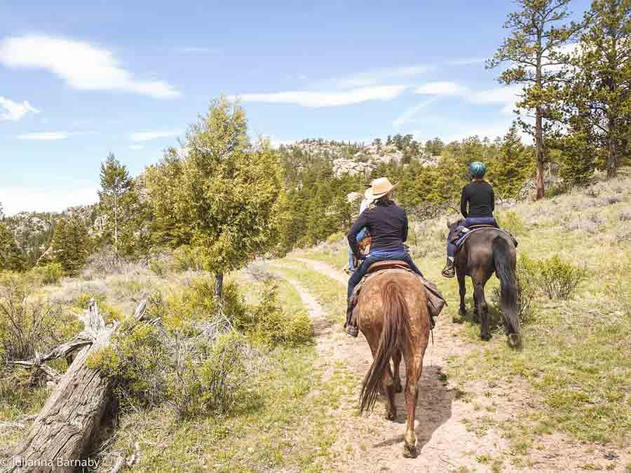 Riding at Sundance Trail