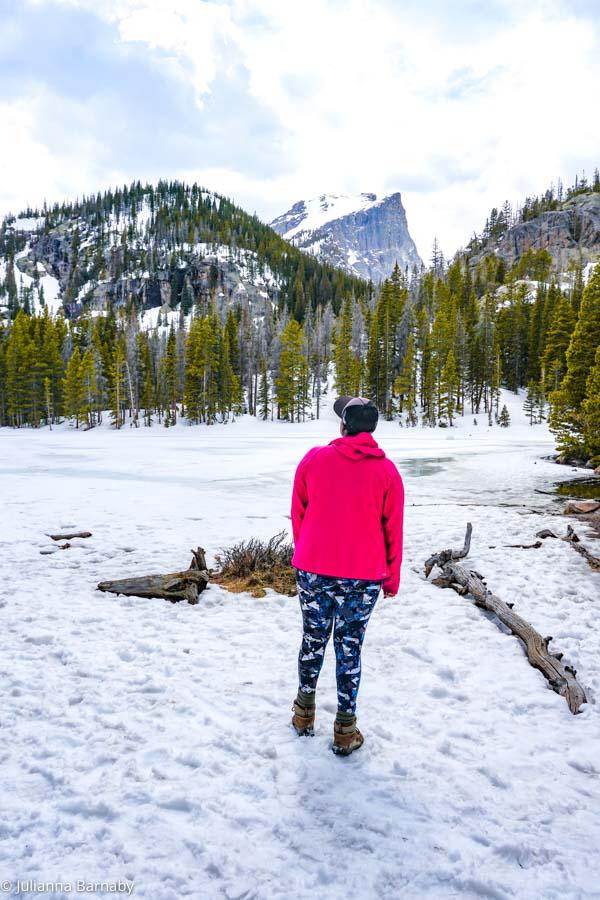 Standing at Nymph Lake